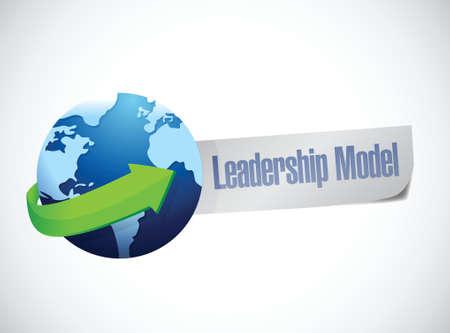 new opportunity: leadership model sign illustration design over a white background