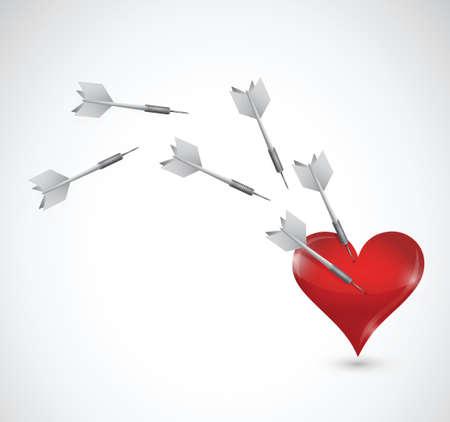 love target cupid concept illustration design over a white background