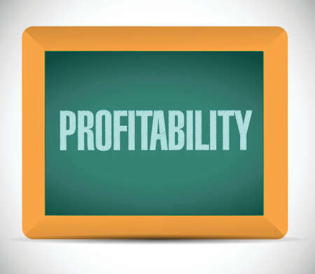 profitability: profitability message illustration design over a white background