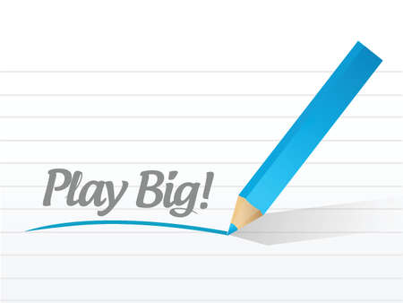 play big message illustration design over a white background Vector