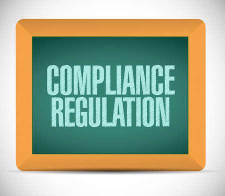 compliance regulation message illustration design chalkboard graphic