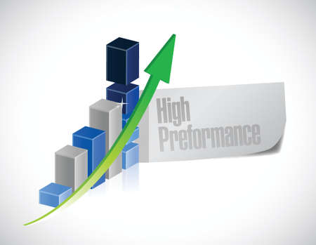 high performance: business graph. high performance illustration design over a white background