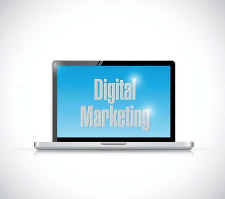 touchpad: computer digital marketing illustration design over a white background