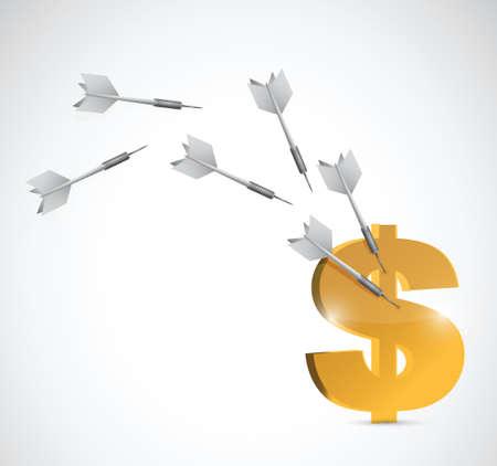 target dollar currency illustration design over a white background Vector