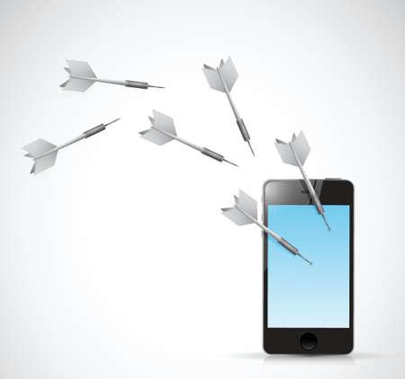 target phone illustration design over a white background