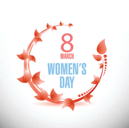 Happy Womens Day celebrations concept illustration design over a white background Vector