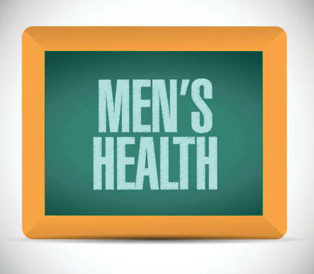 mens health sign message illustration design over a white background Vector