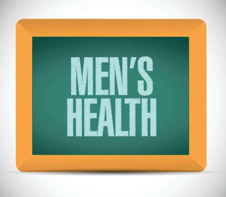 mens: mens health sign message illustration design over a white background