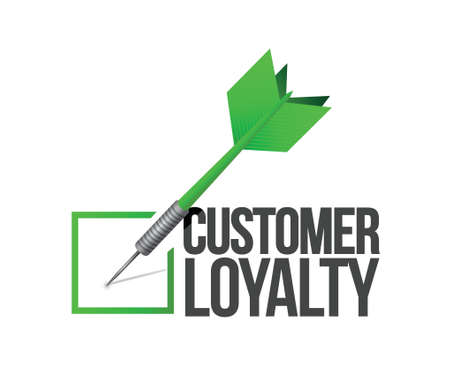 customer loyalty dart check mark illustration design over a white background Vector
