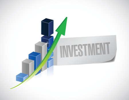 financial adviser: business investment sign illustration design over a white background