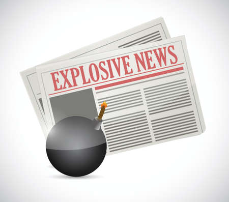 journalism: explosive news concept illustration design over a white background