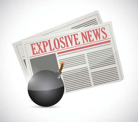 explosive news concept illustration design over a white background