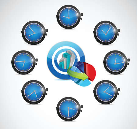 timezone: time for business concept illustration design over a white background Illustration