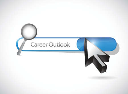 outlook: career outlook search bar illustration design over a white background