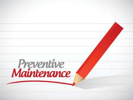 preventive: preventive maintenance message illustration design over a white background