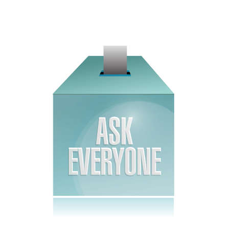 qualify: ask everyone ballot illustration design over a white background Illustration