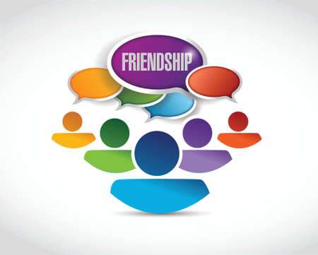 friendship communication illustration design over a white background