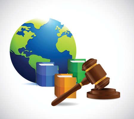 international law: international law. legal concept illustration design over a white background