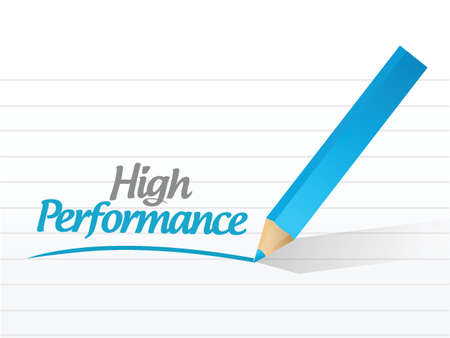 high performance: high performance message illustration design over a white background