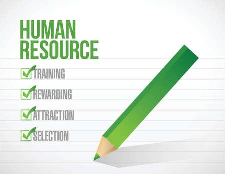rewarding: human resource check mark illustration design over a white background Illustration