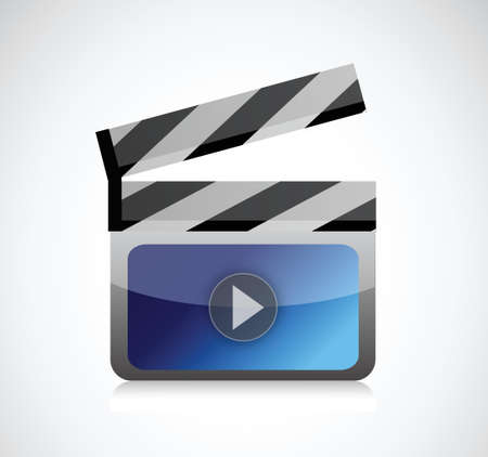 movie clapper illustration design over a white background