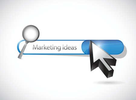 marketing ideas search bar illustration design over a white background Иллюстрация