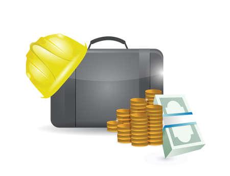 b2b: construction profits illustration design over a white background Illustration