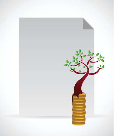 monetary concept: monetary growth concept illustration design over a white background