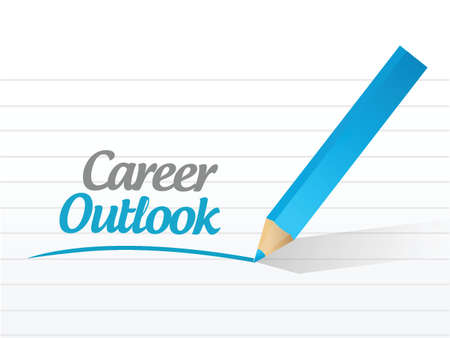 career coach: career outlook message illustration design over a white background Illustration