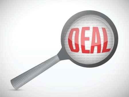 deal under review illustration design over a white background