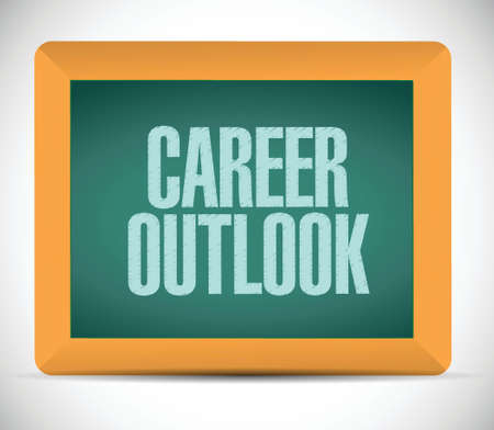 career coach: career outlook message on board illustration design over a white background Illustration