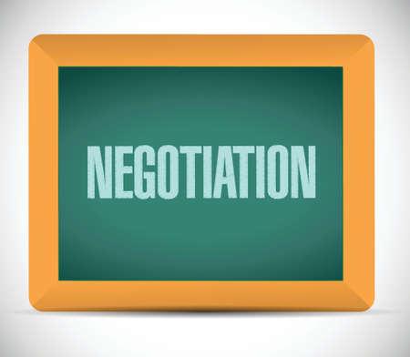 smart goals: negotiation message on a board illustration design over a white background