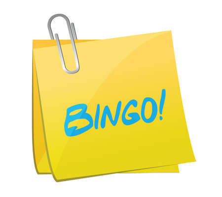 bingo post message illustration design over a white background