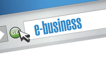 ebusiness: ebusiness search bar on a browser. illustration design artwork