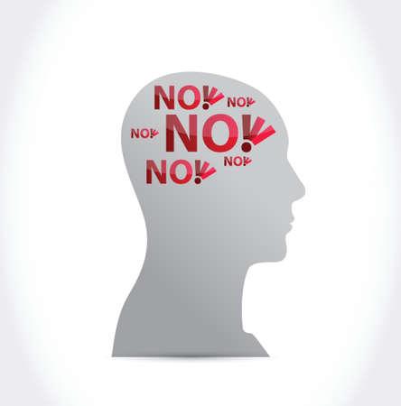 no on my mind illustration design over a white background Vettoriali