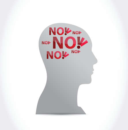 no on my mind illustration design over a white background 矢量图像