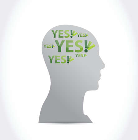 yes on my mind illustration design over a white background Vector