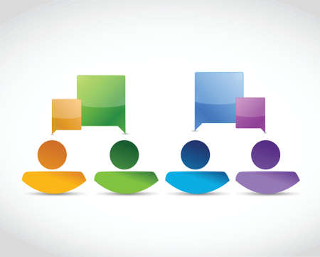 color people avatar communication illustration design over a white background Vector