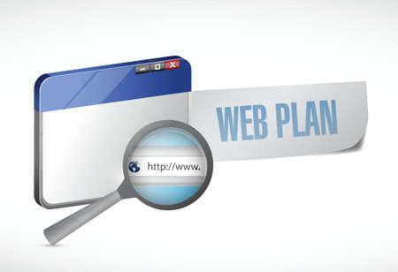 prognoses: web plan browser illustration design over a white background Illustration