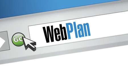 web browser: web plan message on a browser illustration design graphic Illustration