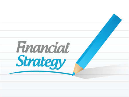 smart goals: financial strategy message illustration design over a white background
