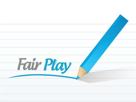 fair play: fair play message illustration design over a white background