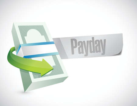 payday: payday stack of money illustration design over a white background