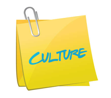 cultural artifacts: culture post message illustration design over a white background