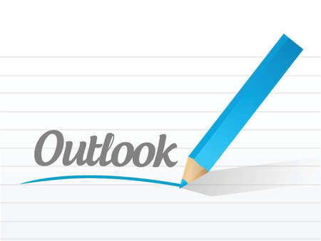 outlook: outlook message illustration design over a white background