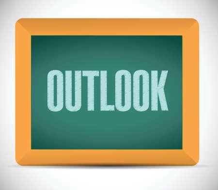 outlook のメッセージ、黒板で。白色の背景上のイラスト デザイン  イラスト・ベクター素材