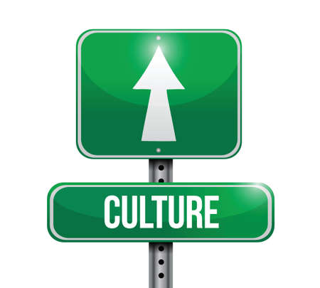 behaviour: culture signpost illustration design over a white background