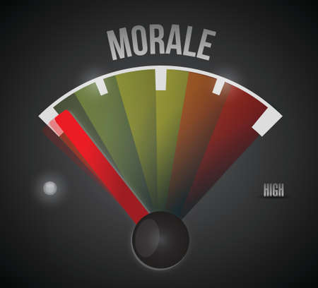 low morale illustration design over a black background Vector