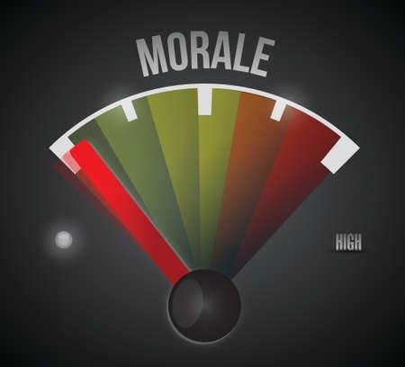 morale: low morale illustration design over a black background