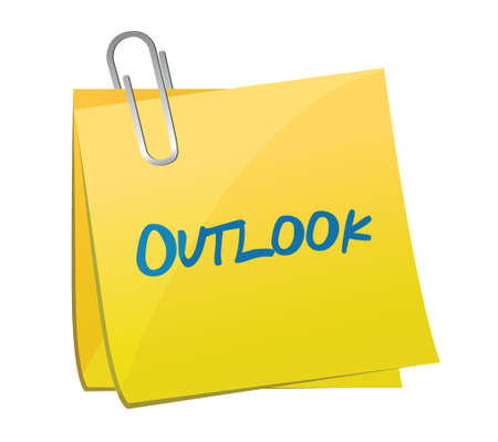 outlook post message illustration design over a white background